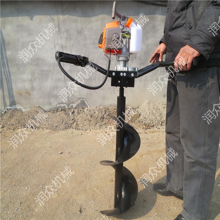 種植樹苗挖坑機 栽樹小型種樹打坑機