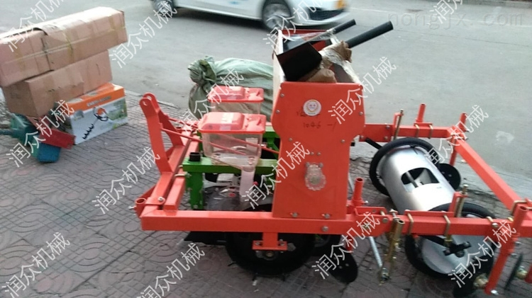 辣椒播种覆膜机 拖拉机带动两行油葵播种机
