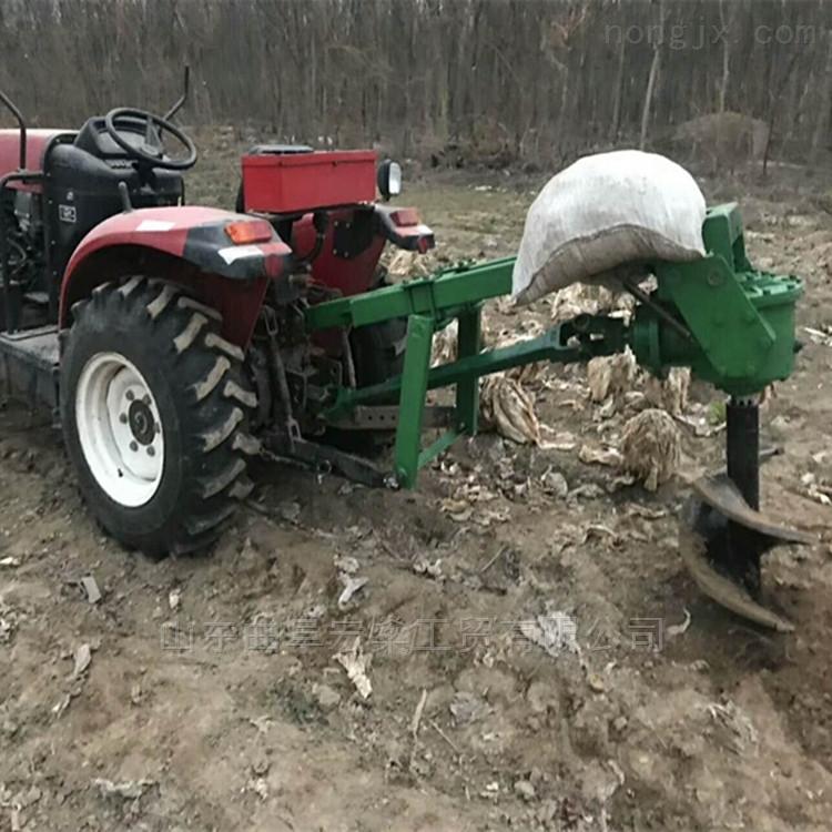50 60 70 80直徑四輪拖拉機植樹挖坑機