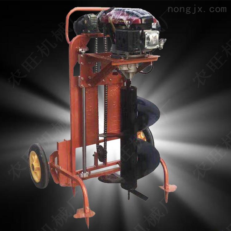 大型螺旋挖坑机 四轮拖拉机后置植树挖坑机