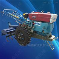 柴油电启动手扶耕地机