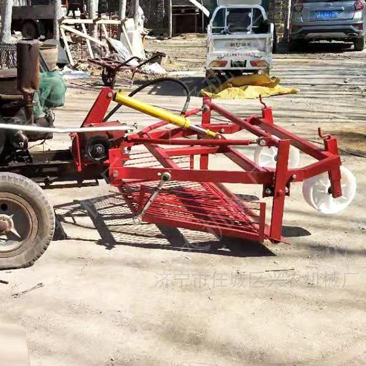 拖拉机前置挖蒜机 大型大蒜收获机
