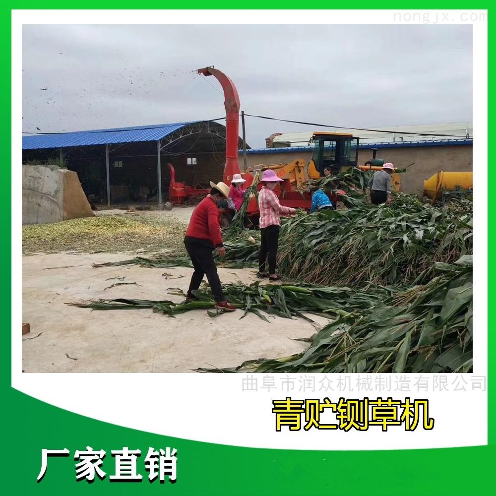 青储玉米杆子铡草机 自动进料干草粉碎机