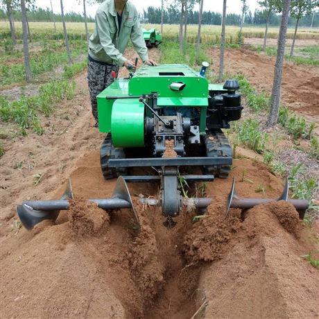 可旋耕除草开沟施肥机 履带除草机价格