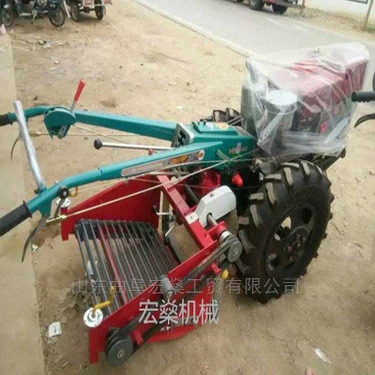 红薯收获机 手扶拖拉机带动马铃薯收货机