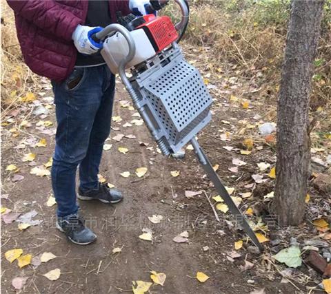 园林机械锯齿挖树机 加长铲头汽油移树机
