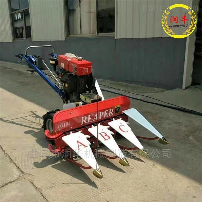 柴油手扶式甜叶菊割晒机 微型稻麦收割机