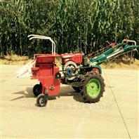 單行玉米收割機扒皮秸稈還田機