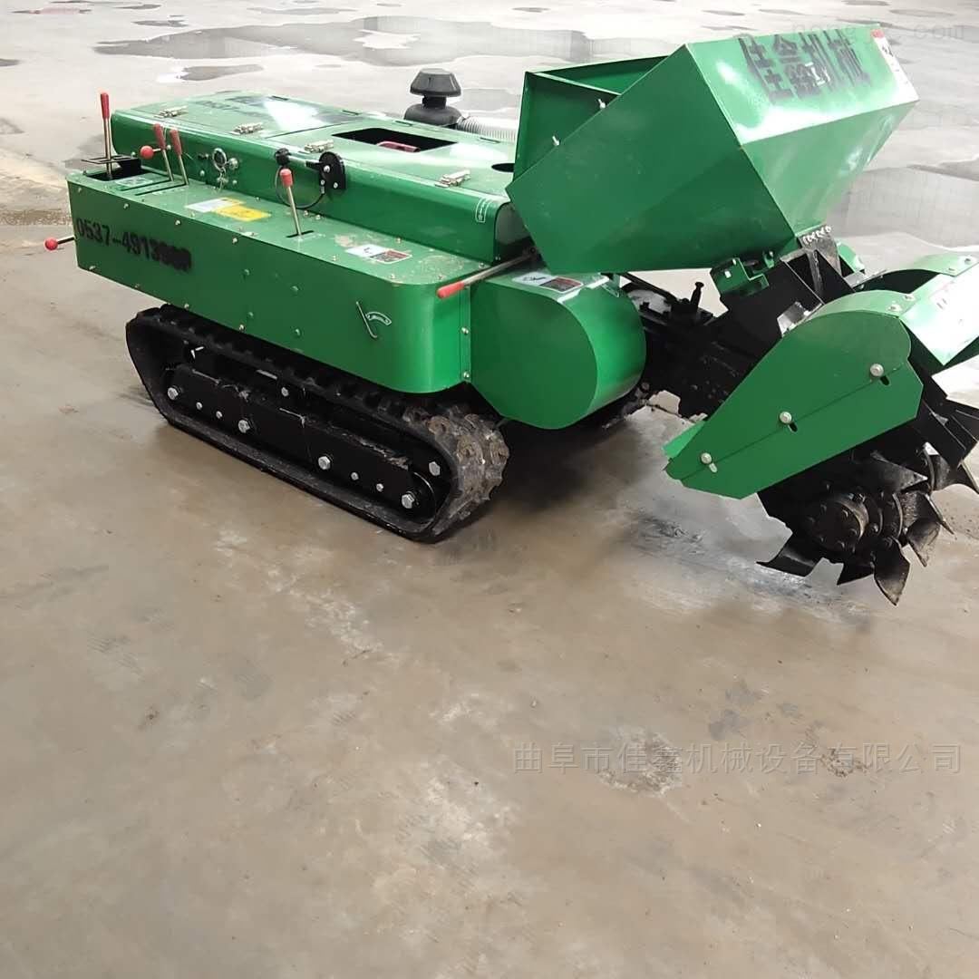 小型履带式拖拉机施肥机 柴油自走式锄草机