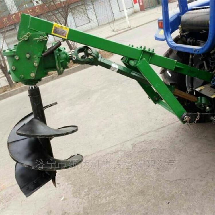 硕达拖拉机后置园林果园挖坑机立柱打洞机