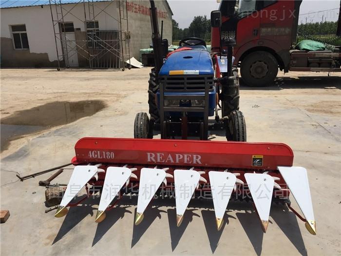 拖拉机轴传动秸秆割晒机 带高架芦苇收割机