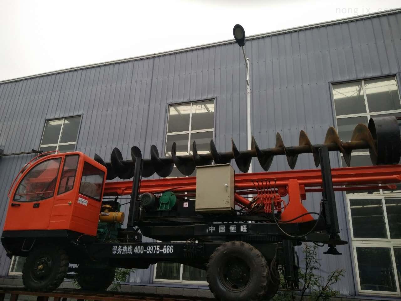 轮式螺旋打桩机厂家 轮式螺旋打桩机价格