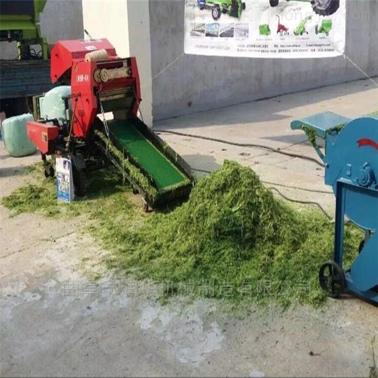 自动缠膜稻草打包机 青玉米秸秆打捆包膜机