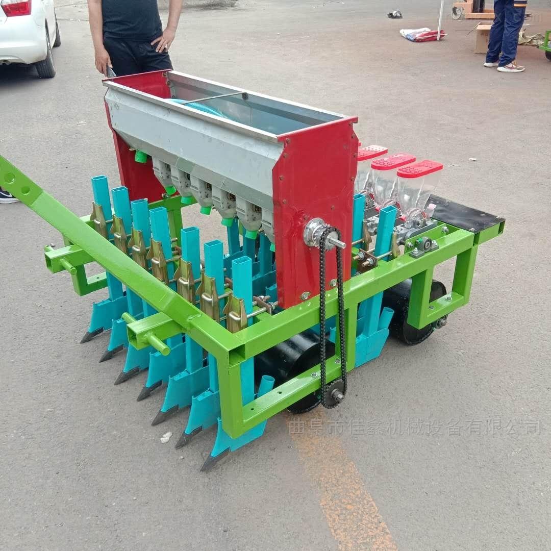 拖拉机带油菜精播机 两垄四行胡萝卜播种机