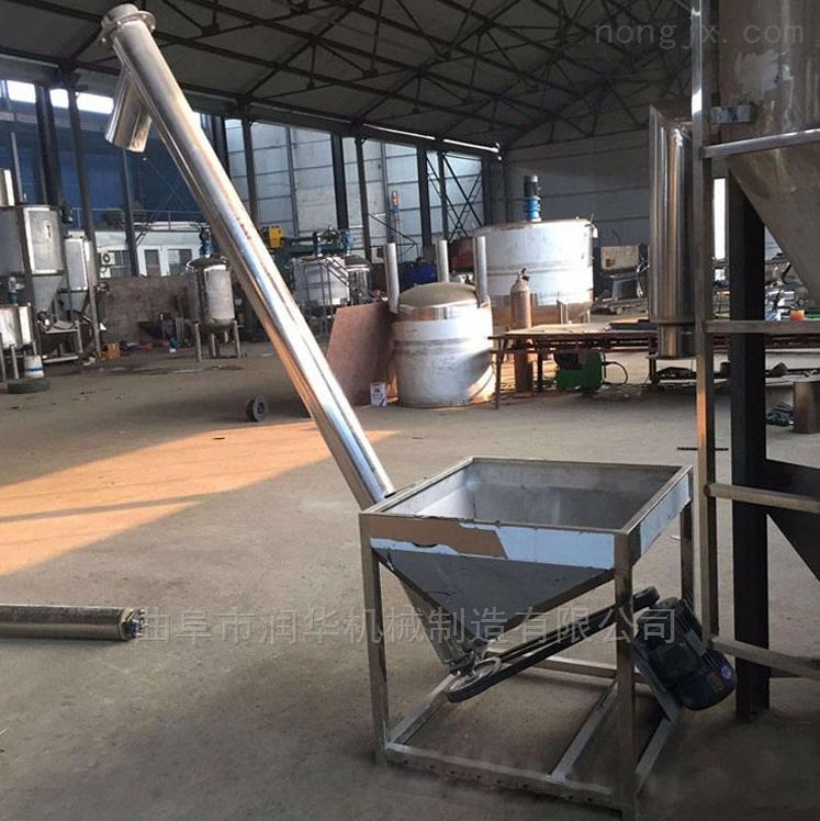 不锈钢蛟龙粉末提升机 粮食输送钢管提料机