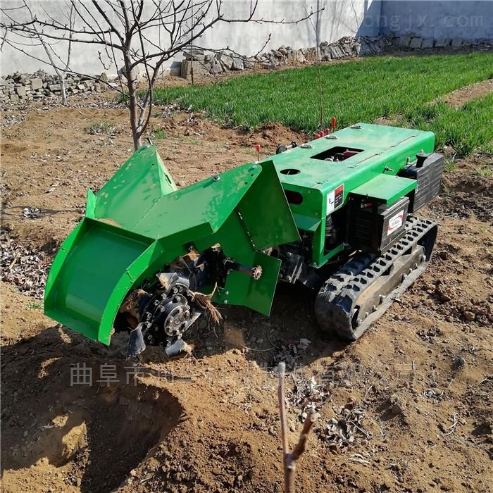 柴油電啟動茶園施肥機 農業全自動開溝機