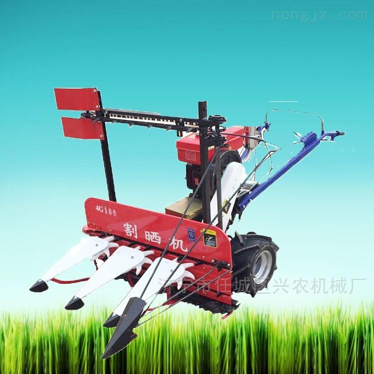 四轮水稻谷子割倒机厂家