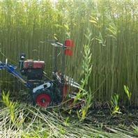 小四轮带玉米秸割晒机 汽油手推式割草机