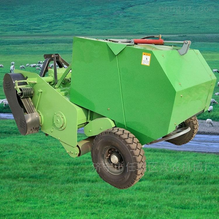 四轮麦草捡拾打捆机 饲料粉碎包膜机