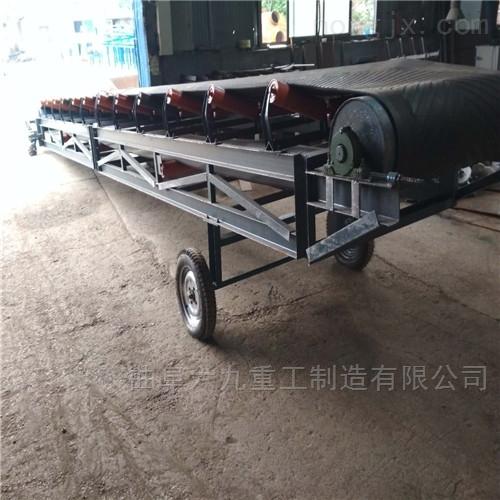 槽型托辊石料皮带输送机 50米长土方传送机