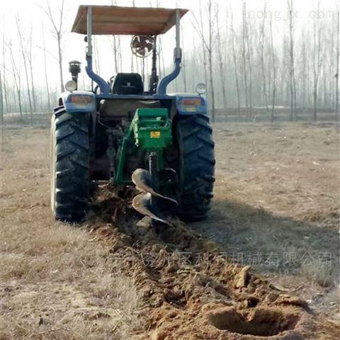 牵引式挖坑机 直径30公分到1米可定做