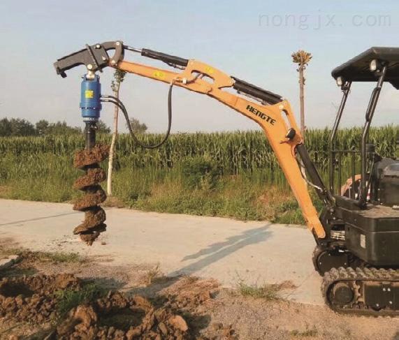 小型挖坑机-HT20全液压履带式挖掘机