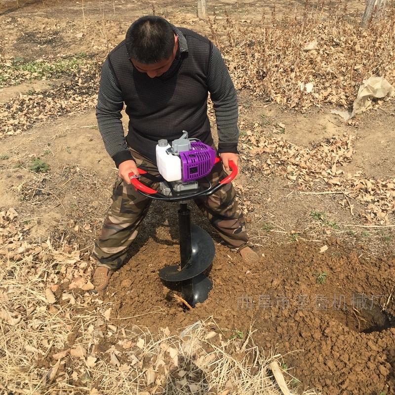 手提挖坑植树机