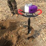 聊城农用埋桩挖孔移苗挖坑机