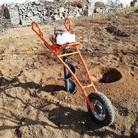 新款汽油獨輪架子挖坑機