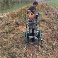 荒地植树汽油挖坑机 立式栽树打窝机批发