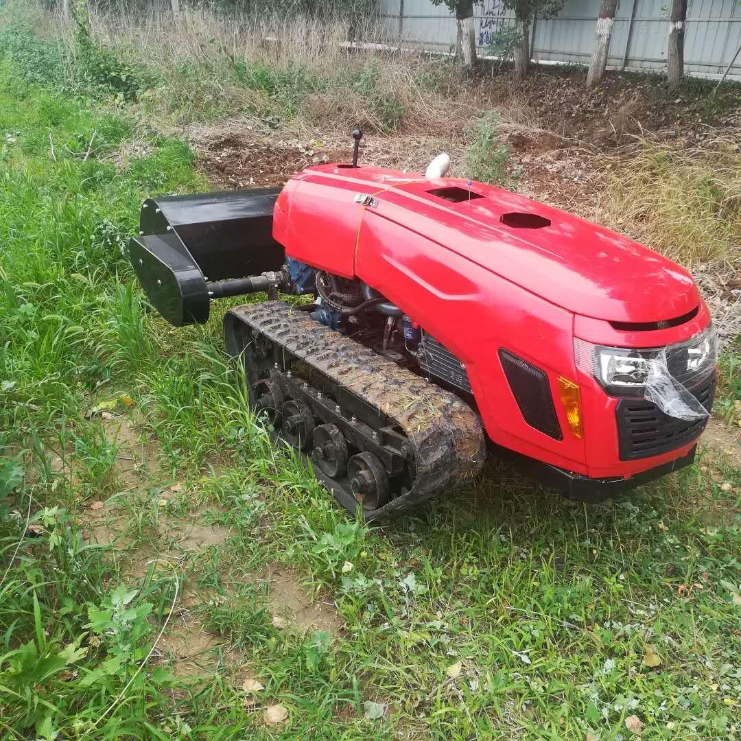 遥控式多功能旋耕机,一机九用履带式微耕机