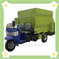左右出料均匀的撒料车 柴油自走式投料车