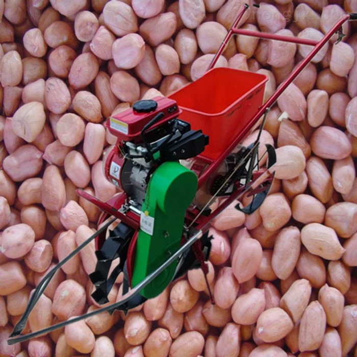 汽油自走式麦茬花生播种机