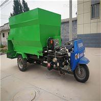 柴油带动自动撒料车 牛场草料粉碎饲喂车