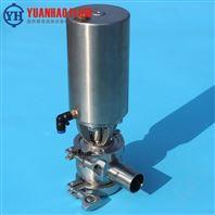 卫生级气动焊接罐底阀 不锈钢球形放料阀