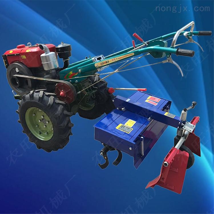 多功能果园旋耕犁地机 15马力手扶拖拉机