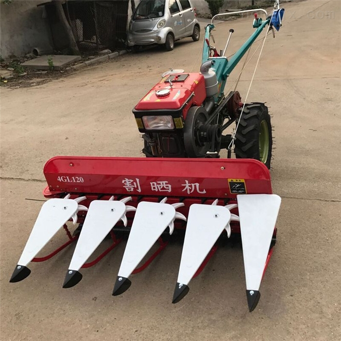 手扶式稻草秸秆割晒机 单行玉米收割机