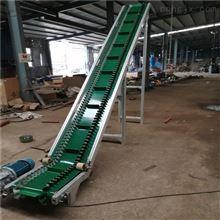 DY500裙邊擋板式綠色PVC輸送機,食品散料傳送機