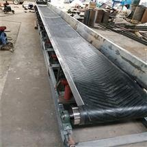 DY600散料用加擋板式輸送機,草料鋸末裝車傳送機