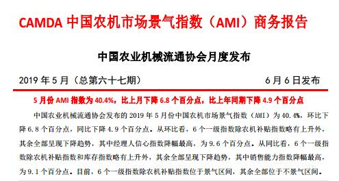 CAMDA中国千赢国际城市场景气指数(AMI)5月商务报告