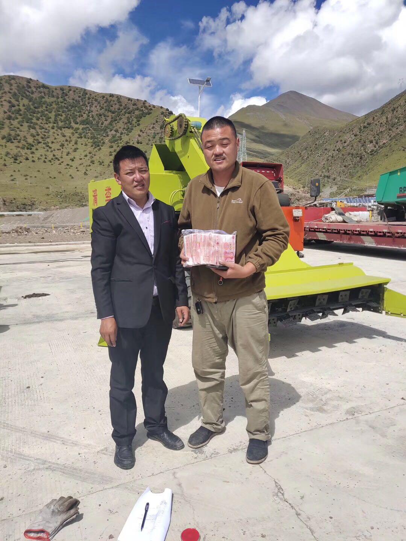 养殖场吴先生对产品满意的见证